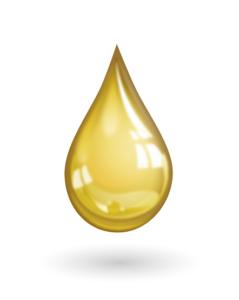 Gelber Wassertropfen