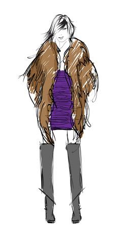 Modedesign-Skizze