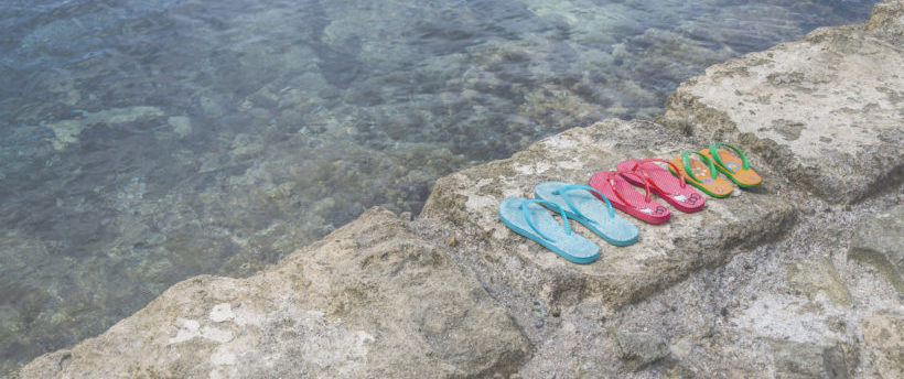 Flip Flops at the water